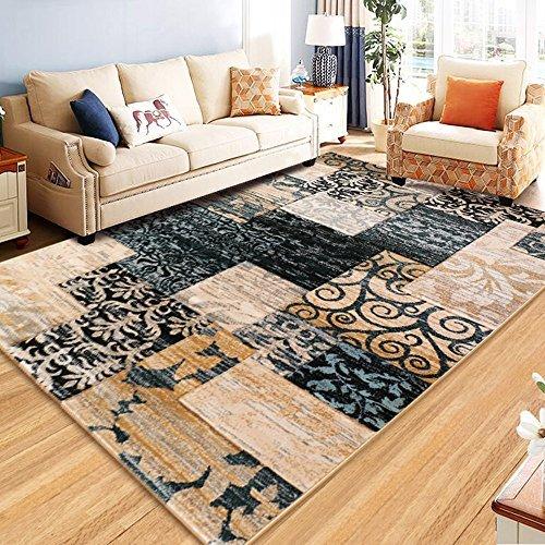WSLTH einfach Northern Home Teppich europäischen American Wohnzimmer Couchtisch Schlafzimmer Teppich Foto Decke Dicker waschbar, 1.2 * 1.7M - Bettwäsche Northern Nights