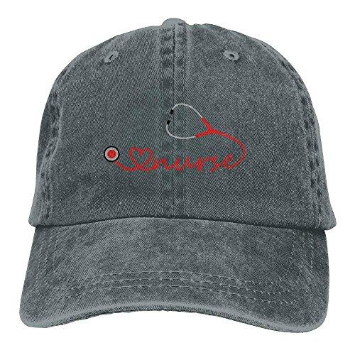 Aoliaoyudonggha Love Nurse Stethoscope Denim Hat Adjustable Women Low Baseball  Caps bb5af4874d6