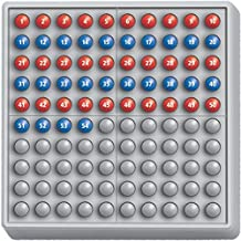 SCHUBI ABACO 100 mit Zahlen - Modell A: 10/10 Kugeln (rot/blau)