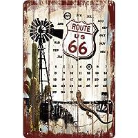 Nostalgic-Art 22142 US Highways Route 66 Desert Kalender Blechschild, 20 x 30 cm