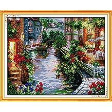 Motiv das Haus am See 14 Count 50 x 41 cm Benway Kreuzstich-Stickset