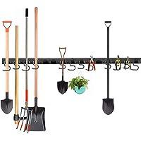 Ihomepark Râtelier Porte Outil, Support Muraux de Rangement d'Outils, Organiseur Universel, Parfaits pour Maison, Jardin…