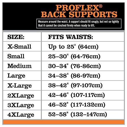 Black Ergodyne ProFlex 1650 Economy Elastic Back Support X-Large