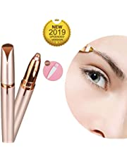 KACOOL Women's Portable Safe Battery Operated Painless Electric Eyebrow Trimmer Facial Hair Remover, Rose Gold