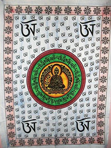 Om Buddha Multi tie dye Poster, Hippie Wand Wandteppich, indisches Wohnheim eingerichtet, Boho Art Wand, Bohemian, zum Aufhängen Größe 76,2 x 101,6 cm Viel Glück Poster oder Wand Aufkleber