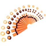 LLGL-EU Set di dilatatori per orecchio, 50 pezzi, 14G-00G, set di dilatatori per orecchio, in acrilico, con spina e tunnel in