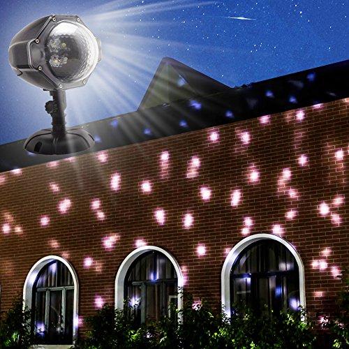 Proiettore Luci Di Natale Amazon.Gesimei Led Proiettore 12 Immagini Di Natale Da Esterno Su Facciata