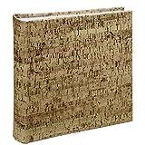 Hama Einsteck-Fotoalbum Corky (Memo-Album mit 100 Seiten, Zum Einstecken von 200 Fotos im Format 10x15, Kork-Optik, 22,5x22) Braun