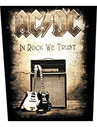 AC / DC Patch IN ROCK WE TRUST Backpatch Sew-On by AC/DC
