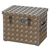 ALUTEC Alu-Transportkiste Riffelblech - 70 l Inhalt - LxBxH 522 x 375 x 420 mm - Alu-Box Alu-Kiste Alu-Transportbox Alu-Transportkiste Kiste für Pritsche Kisten für Pritsche Pritschenbox Pritschenboxen Transportbox Transportbox für Pritsche Transportboxen