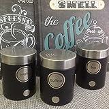 Set da tè, zucchero e caffè in latta con coperchio ermetico