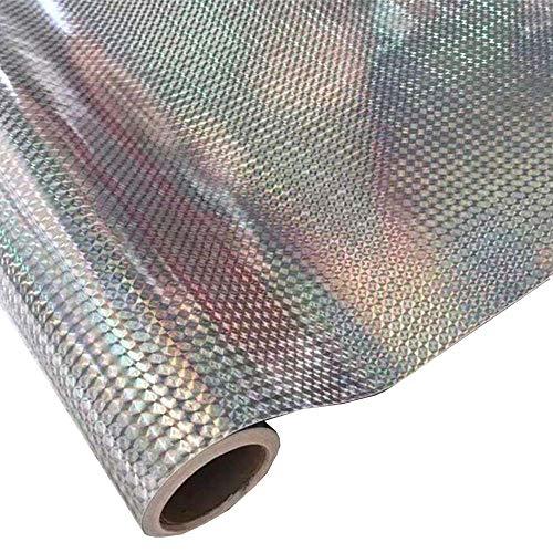 hoho 0,45Sunrise tóner brillante vinilo hojas adhesivo de vinilo hojas para Cricut, Craft moldes, impresoras, cartas, adhesivos 45CMX300CM laser silver