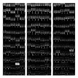 JP London 3Panels bei 16in von 48in ltcnv1X 144555JPL und Susanne scheut Geschenk A Way Still Life Wellpappe Metall Dach Triptychon 3große insgesamt Schwerer Galerie Wrap Leinwand, extra groß