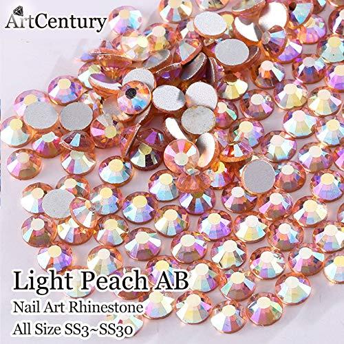 ASTONISH Différentes tailles Crystal Light Peach AB Non Hotfix Flatback Strass Nail Art Deoration et accessoires de bricolage: SS41440Pcs