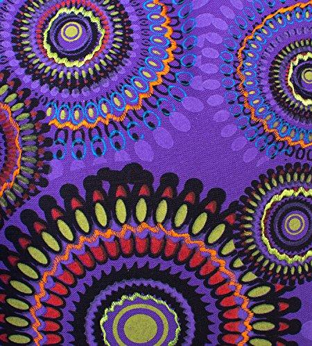 Kunst und Magie Borsa a tracolla con colorato motivo PSY Viola