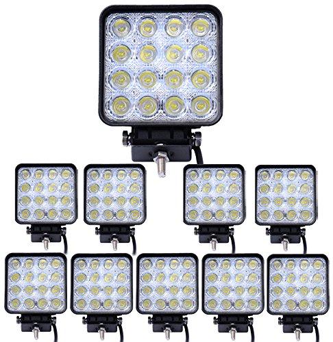 8X 12 V 24 V 18 W LED Lámpara De Trabajo Lámpara de luz de inundación vehículos comerciales ligeros Universal