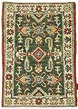 Nain Trading Kazak 90x62 Orientteppich Teppich Beige/Rost Handgeknüpft Afghanistan