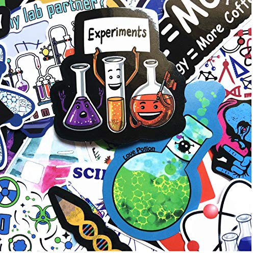 cyk Brain Science Lab Aufkleber Chemie Test Gleichung 50 Stück Laptop Case Auto Style Doodle Applique