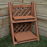 Outdoor Plant Stands Unibos Garden 2 Tier Wooden Planter Rack Flower Plant Display Stand Plant Shelf Ideal for Outdoor Indoor