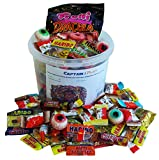 Horror Halloween Party Bucket mit schaurigen Süßigkeiten