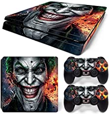 Elton Joker Theme 3M Skin Sticker Cover for PS4 Slim Console and Controllers