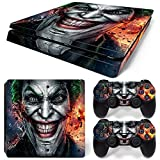 #6: Elton Joker Theme 3M Skin Sticker Cover for PS4 Slim Console and Controllers