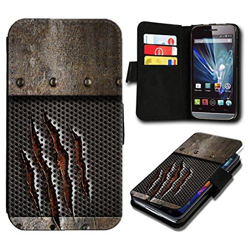 Book Style Wiko Fizz Premium PU-Leder Tasche Flip Brieftasche Handy Hülle mit Kartenfächer für Wiko Fizz - Design Flip SB2