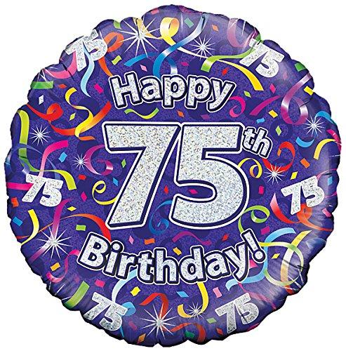 Suki Gifts S9227468 75. Geburtstag Luftschlangen Folienballon, violett (Geburtstag 75 Ballons)