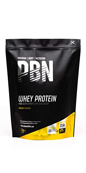 PBN Whey Protein Powder 1kg Banana