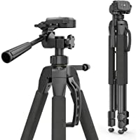 Hama Kamera Stativ Action 165 3D (Tripod mit 61–165cm Höhe, leichtes Fotostativ mit 3-Wege-Kopf, Dreibeinstativ mit…