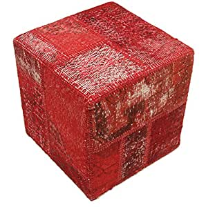 patchwork hocker ottoman 50x50 orientteppich. Black Bedroom Furniture Sets. Home Design Ideas