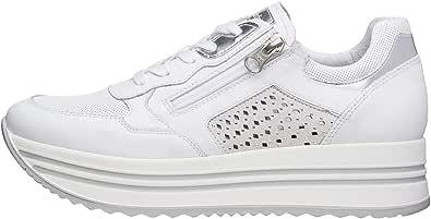 Nero Giardini E010563D Sneakers Donna in Pelle, Camoscio E Tela