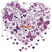 Butterfly Heart XL viola – Kit punto croce (16 ct Aida)
