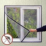 Fliegengitter für Fenster gegen Insekten/Mücken (130x 150cm)