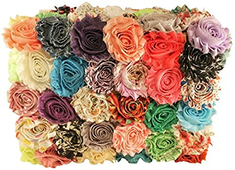 Chiffon Fabric Flowers for Crafts - Bulk Fabric Flowers Assorted