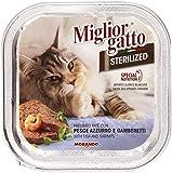 Miglior Gatto - Prelibato Paté, con Pesce Azzurro e Gamberetti - 100 g