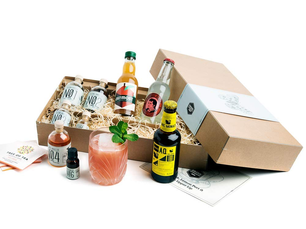 Gin Cocktail Geschenk-Set für 6 feine Gin & Tonic Interpretationen | Probier-Set mit ELEPHANT GIN & SLOE GIN aus Hamburg 5