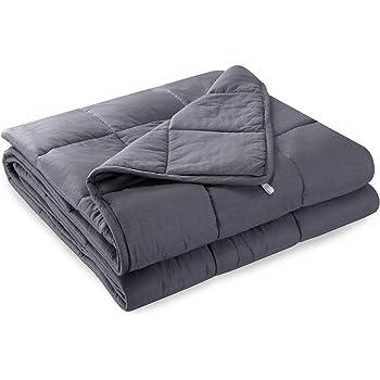 Anjee Les couvertures lestées par gravité sont idéales pour Les Enfants Qui souffrent de Sommeil | Couvertures Coton et Perles de Verre (6,8 kg pour Un individu de 55 à 100 kg, 150 x 200 cm)