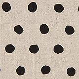 Naturfarbenes Wachstuch mit schwarzen Punkten von Etsuko