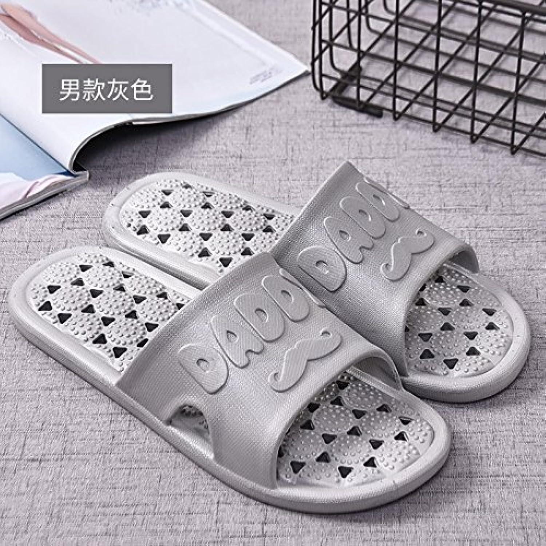 Home zapatillas zapatillas parejas y bañera con agua fría casa, macho: Gris,40-41  -