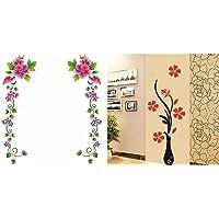 Decals Design 'Flower Vines' Wall Sticker& 'Flowers with Vase' Wall Sticker