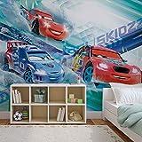 Disney Cars Raoul ÇaRoule McQueen - Forwall - Fototapete - Tapete - Fotomural - Mural Wandbild - (3212WM) - XXL - 312cm x 219cm - VLIES (EasyInstall) - 3 Pieces