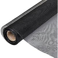 vidaXL Toile moustiquaire de porte/fenêtre Fibre verre 150x500cm noir