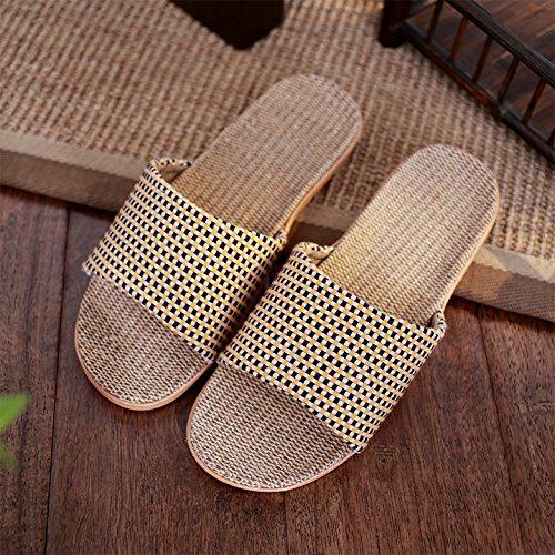 DogHaccd pantofole,Biancheria pantofole estate coppia femminile di spessore pantofole nel tuo salotto con un soffice pavimento antiscivolo di quattro stagioni pantofole maschio Arancione1