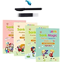 Magic Practice Copybook, Number Tracing Book for Preschoolers with Pen, Magic Calligraphy Copybook Set Practical…