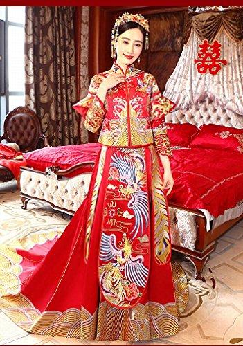 weiwei WEI Show Wo Kleidung im Chinesischen Stil Brautkleid Brautkleid Phoenix Toast Toast...