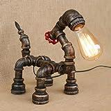 Pointhx Antike Wasserpfeifen Tischlampe kreative Tier Eisen Schreibtisch Leuchte industrielle Retro Edison E27 Schreibtisch Laterne Cafe Villa Schlafzimmer Wohnzimmer Dekoration Desktop Nachtlicht