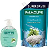 Palmolive Naturals Sea Minerals Liquid Hand Wash, 250ml Pump with 750ml Refill Pack, Removes 99.9% Germs, Refreshing…