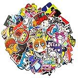 Autocollant Lot [100-pcs] Graffiti Autocollant Stickers vinyles pour ordinateur portable, enfants, voitures, moto, vélo, Skateboard bagages, Bumper Stickers hippie autocollants Bomb étanche (série-9)