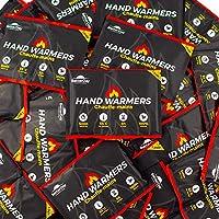 [NOUVEAU !] Chauffe-mains avec housses BetterDay® qualité supérieure 100% naturel - 80 chaufferettes de poche (40 paires) jusqu'à 62°C pendant 10 heures - Coussinets chauffants instantanés